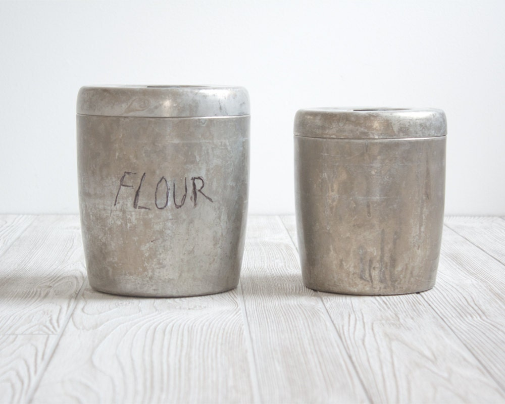 Vintage Kitchen Canisters Flour Sugar Containers Storage