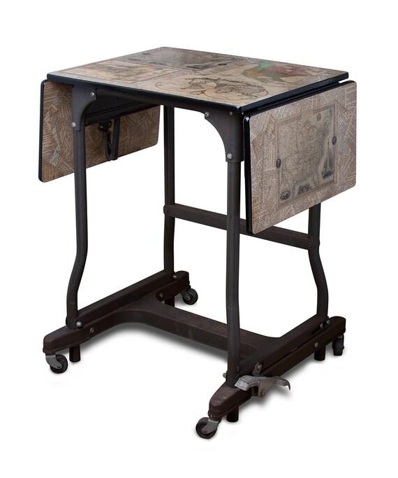 Industrial Vintage Decoupage Typewriter Table
