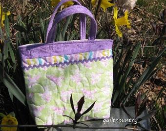 Handmade Easter tote bag