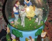 Authentic Disney Snow White Musical Snow Globe