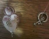 Gorgeous Glass Pink Heart necklace
