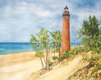 Little Sable Lighthouse on Lake Michigan