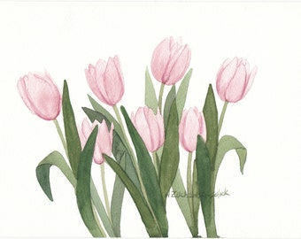 Pimk Tulip Watercolor Garden