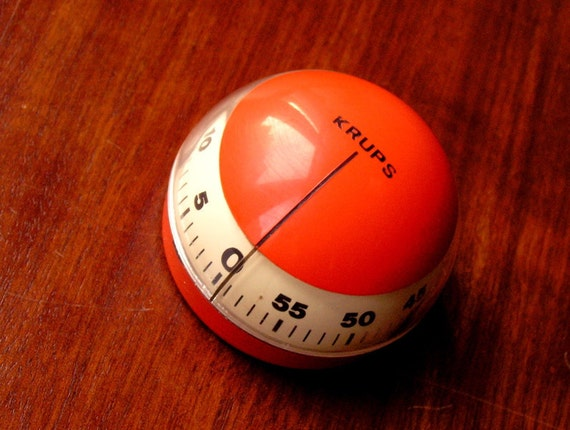 Vintage orange kitchen timer