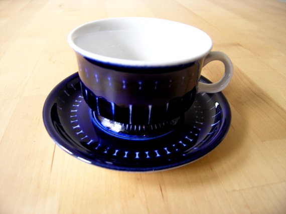 RESERVED Arabia Valencia coffee cup and saucer