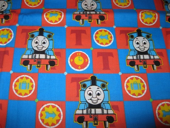 Thomas the train fabric by the yard for Train fabric by the yard
