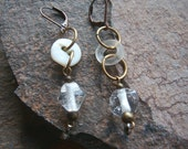 Asymmetrical Earrings - Antique and Vintage Beads