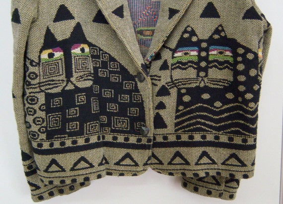 RESERVED TO July 20: Laurel Burch Cats Jacket