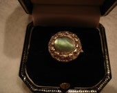 Vintage 1950's Mother of Pearl / Abalone Adjustable size Ring Hippie Chic Boho