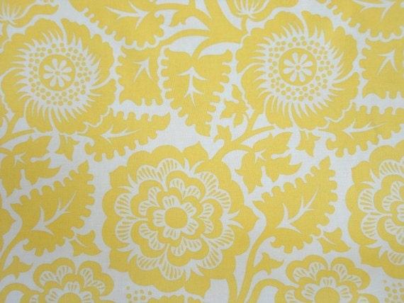Joel Dewberry Fabric - 1/2 METRE of Heirloom Blossom Blockprint in Dandelion