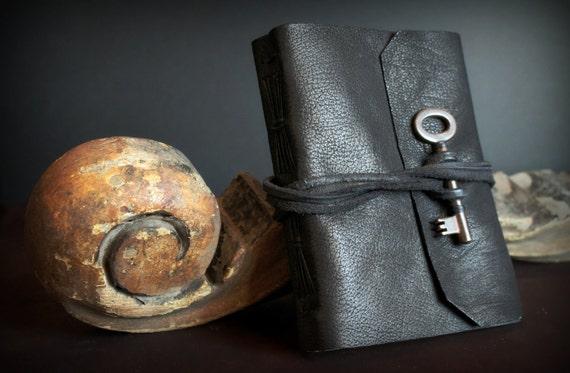 Vintage Key Long Stitch Leather Journal