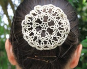 DOUBLES Tatting pattern for a buncover or snood. Visual graph PDF.