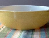 RESERVED for JANEE Vintage Pyrex Yellow Desert Dawn 2 Quart Round Casserole 024 1950s