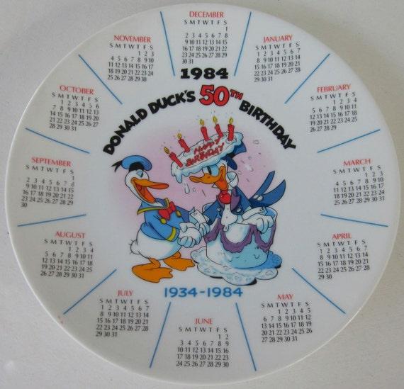 The Disney Collection 1984 Disney Calendar Plate