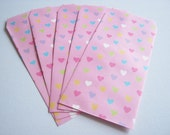 Envelope, Paper Envelope, Candy bag, Mini Envelope, Pink Paper bag, Sweet Hearts , Kawaii Envelope, Cute Rabbit Envelope, card envelope