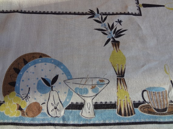 Vintage Mid Century Atomic Tablecloth
