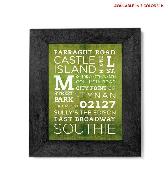 City Point - South Boston Poster - 11x14
