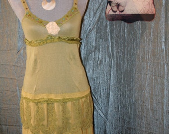 Upcycled Tattered Shabby Chic Boho Gypsy Dress Ranch Country Chic Prairie Girl Bohemian Sundress