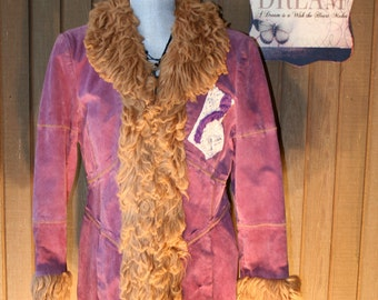 Upcycled Shabby Chic Bohemian Gypsy Jacket Tattered Funky Boho Coat Country Chic Ranch Prairie Girl