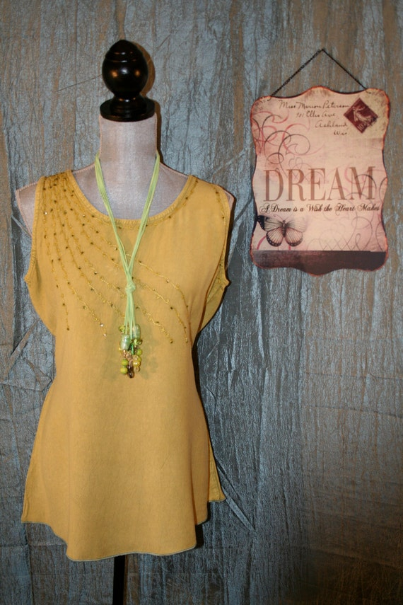 Upcycled Tattered Shabby Chic Shirt Bojo Gypsy Mori Girl Tunic Blouse Ranch Prairie Cowgirl Top