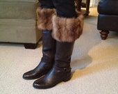 Fur Boot cuffs made out of  Genuine Vintage Mink