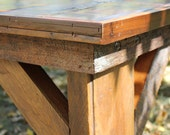 Large Reclaimed BARN-WOOD Table from 100 Year Old Kansas Barn