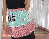 Sassy Flounce Retro Apron Pattern - full and half apron
