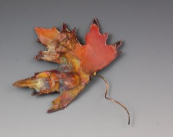 COPPER MAPLE LEAF: wall decor,metal sculpture,metal art ,wall art ,home decor,