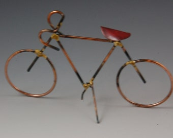 BICYCLE: THE RACER,copper,steel,bikes,metal sculpture,home decor,collectable