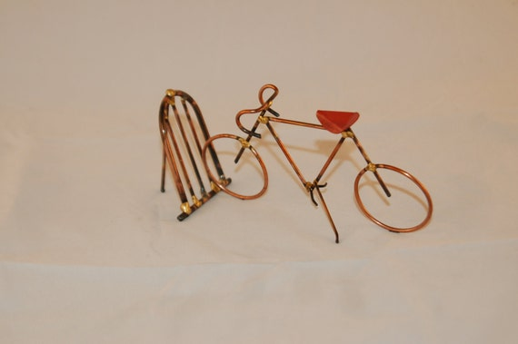 BICYCLE: THE RACER,copper,steel,bike sculpture,home decor,collectable