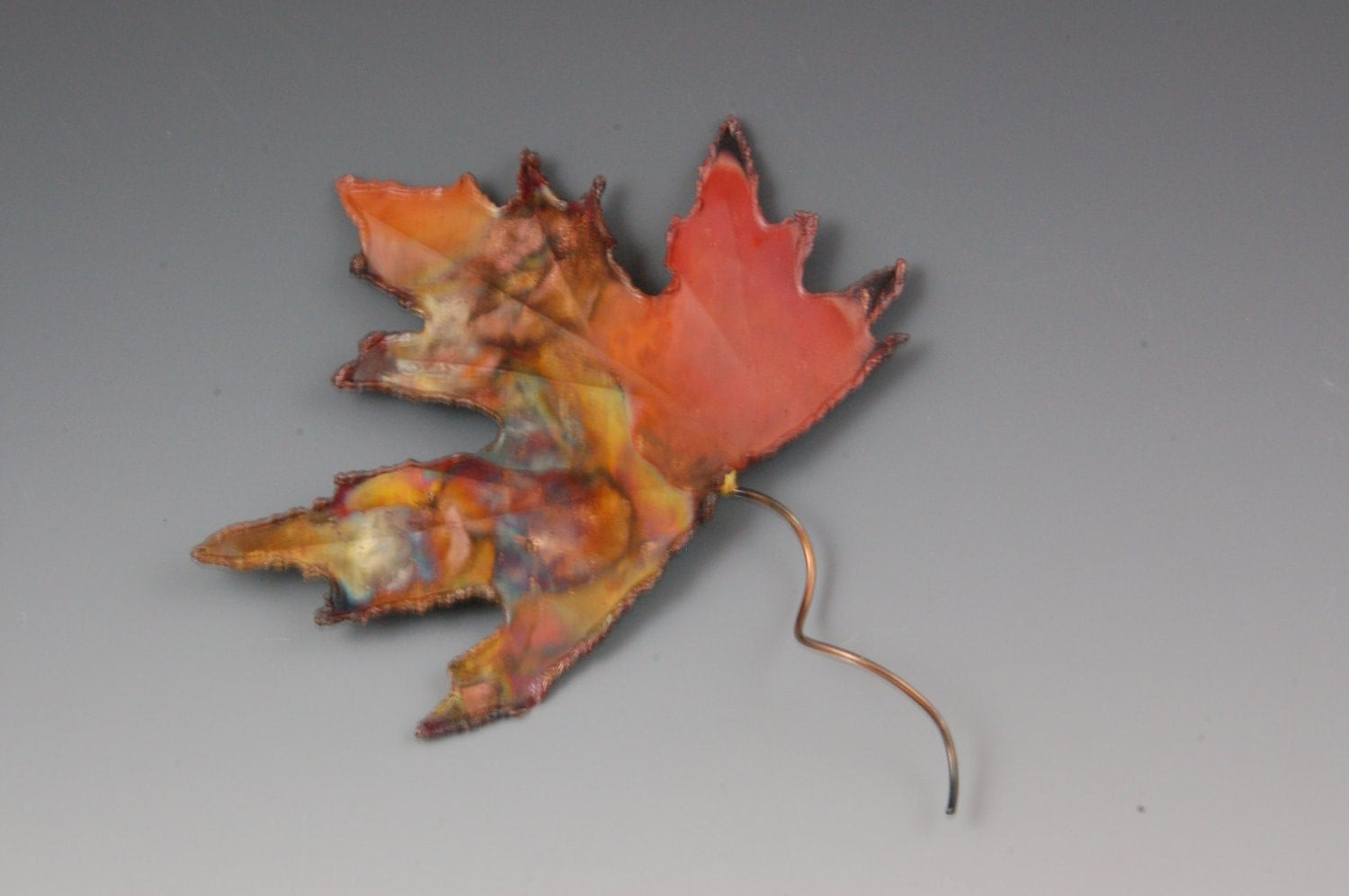 Copper Maple Leaf Wall Decor Metal Sculpture Metal Art Wall Art
