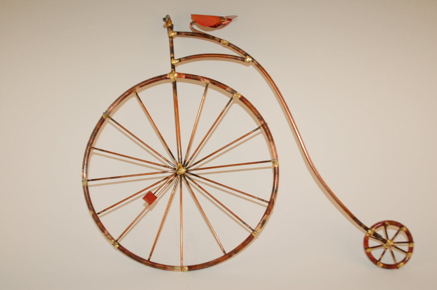 Wall Art Metal Bicycle : Penny farthing bikes old fashion giant bicyclehigh