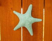 Concrete Starfish Outdoor Decoration - Aqua