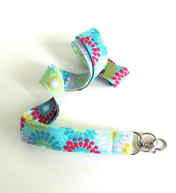 Fabric Lanyard / ID Badge Lanyard / Key Ring Daisies Teacher Nurse Lanyard Back to School