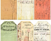 """Printable Vintage-type Tags, sized 2 1/2 by 4 1/2"""""""