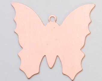 Pack of 6 COPPER BUTTERFLY  24ga - 1 3/8""