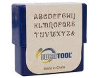 CLOSEOUT 2mm STAMP SET, Uppercase Verona 27pc