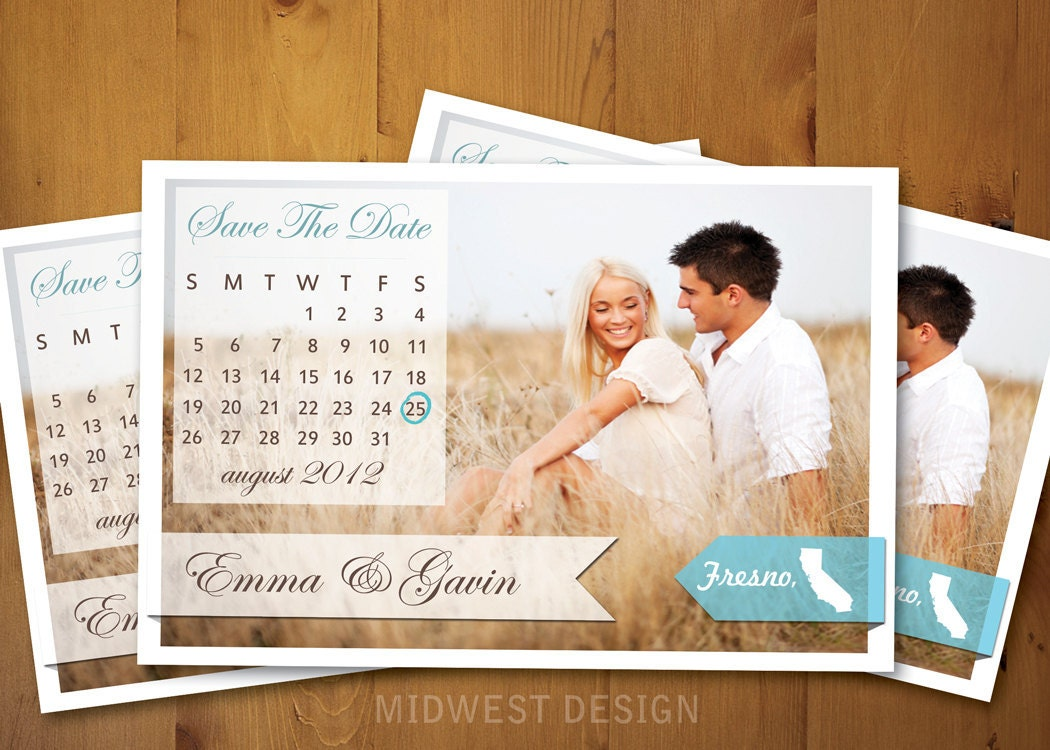 When Do You Send Out Save The Date: Save The Date Calendar Magnet Or Card . Ribbons Calendar
