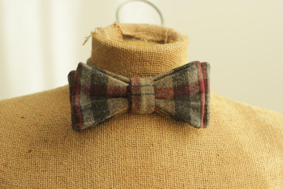bow tie pattern PDF for men - DIY sewing for beginners - plaid tweed mad men vintage inspired don draper
