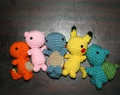 5 Set Crochet Pokemon