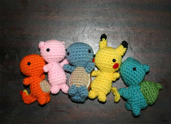 Crochet Pokemon : Set Crochet Pokemon by RoboticGorgon on Etsy