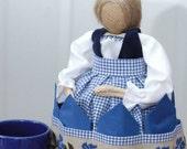 "Burlap Napkin Doll ""Franzi"""