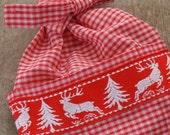 Apron Christmas Scandinavia - Replacement Apron for Burlap Dolls with a Scandinavian Motive