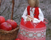 "Burlap Napkin Doll ""Edith"""