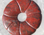 Red Jasper Donut Bead Focal Natural Brecciated Stone Huge 45mm Qty1