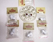 Lot 6 Packages Doll eyes Tallinas round for human doll repair doll making 22mm New Old Stock Brown