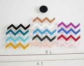 Custom Necklace - geometric chevron necklace - you choose your color - Warm Colors