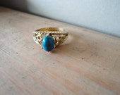 vintage rings estate gold 18 KT HGE size 7