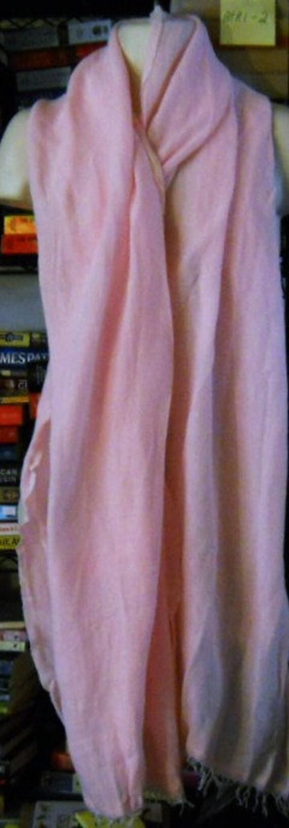 "Vintage  Hand-Spun  Traditional Fabric of Ethiopia ""Netela""  Sweet  Pink 1980's"