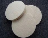 Needle-felting Kit - 4 wool coaster blanks & fiber to needle felt